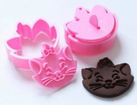 Marie Cat Cookie Cutter Press Set