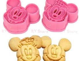 Mickey Mouse Cookie Cutter Press Set