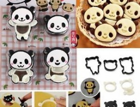 Panda Cookie Cutter press set