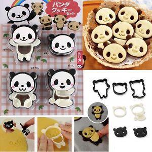 Panda Cookie Cutter press set